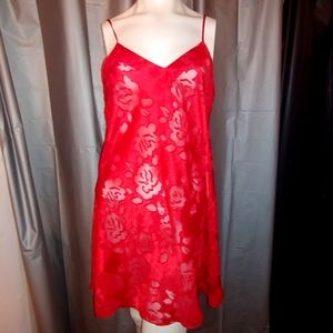 Victoria's Secret red semi sheer nighty
